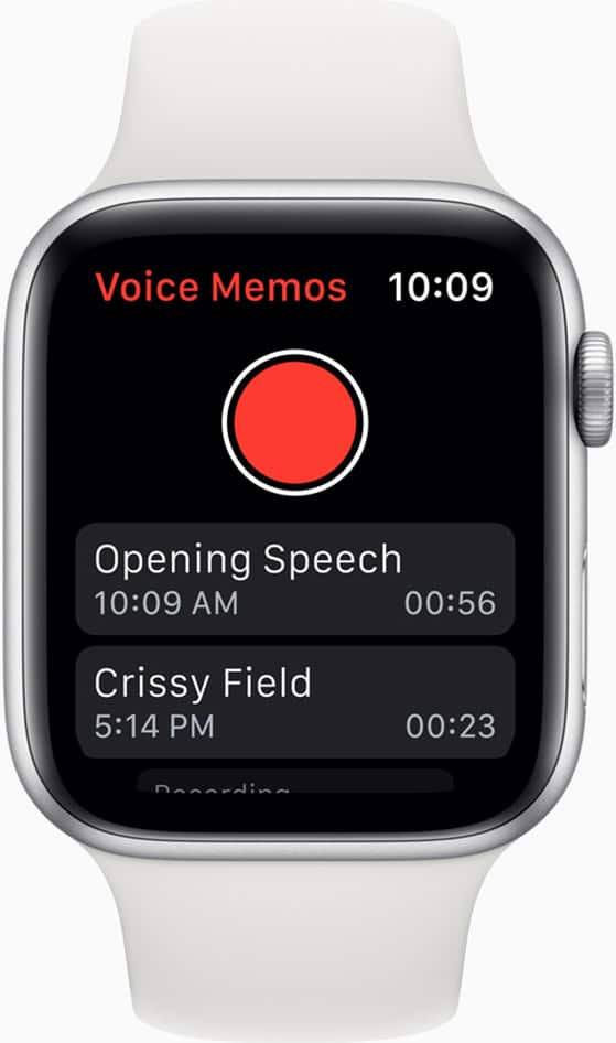 Tapping the Apple Watch face will soon allow you to record a voice memo.