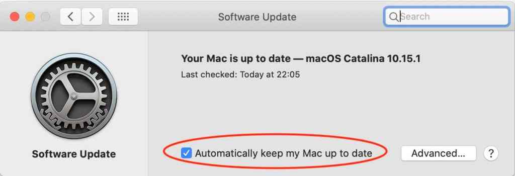 "Make sure ""Automatically keep my Mac up to date"" is checked."